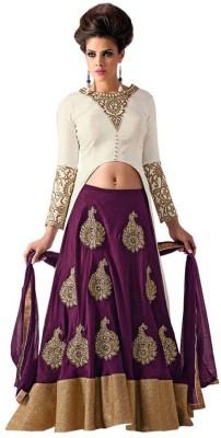 Panash Trends Embroidered Women's Lehenga, Choli and Dupatta Set