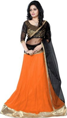Vruticreation Self Design, Embroidered Women's Lehenga, Choli and Dupatta Set