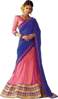 Melluha Fashion Self Design Women's Lehenga, Choli and Dupatta Set