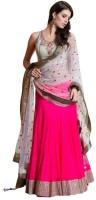 Ecbaticfashion Chaniya, Ghagra Cholis - Ecbaticfashion Embroidered Women's Ghagra, Choli, Dupatta Set(Stitched)