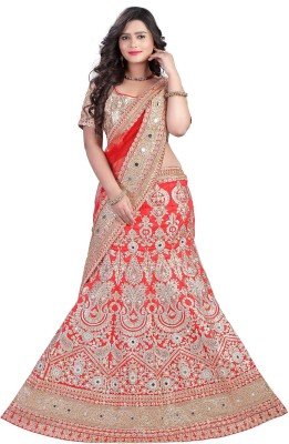 Vakiya Saree Embroidered Women's Lehenga, Choli and Dupatta Set