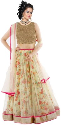Sunita Floral Print Women's Lehenga, Choli and Dupatta Set