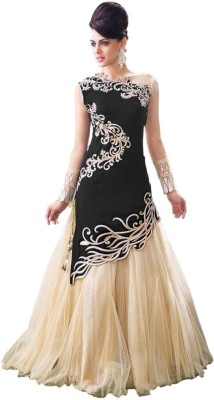 Bavali Creation Velvet Embroidered Dress/Top Material