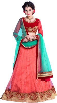 Aarna's Collection Embroidered Women's Ghagra, Choli, Dupatta Set