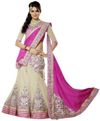 VD Fashion Embroidered Women's Lehenga, Choli and Dupatta Set
