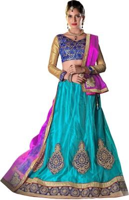 StyleWorld Self Design Women's Lehenga, Choli and Dupatta Set