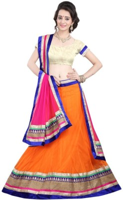 Fashiongalleria Solid Women's Lehenga, Choli and Dupatta Set