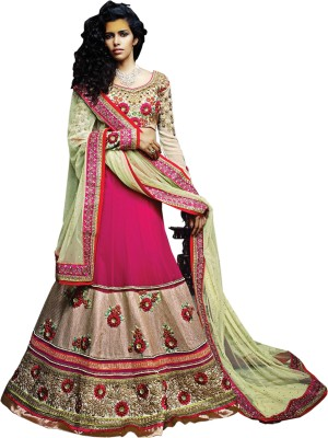 Kataria Fabrics Self Design, Embroidered Women's Lehenga, Choli and Dupatta Set