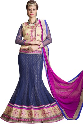 Style Mania Embroidered Women's Lehenga, Choli and Dupatta Set
