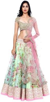 Fashionart Embroidered Women's Lehenga, Choli and Dupatta Set