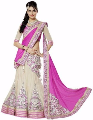 FB Fashion Net Embroidered Lehenga Choli Material