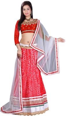 Pooja Fashions Self Design Women's Lehenga, Choli and Dupatta Set