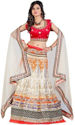 edeal online Solid Women,s Lehenga, Choli and Dupatta Set