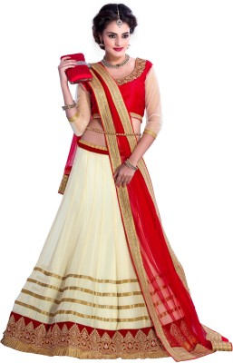 D3ETHNIC Solid Women's Lehenga, Choli and Dupatta Set