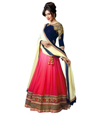 HONESTIMPEX Embroidered Women's Lehenga, Choli and Dupatta Set