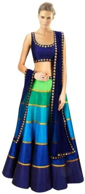 Wholetex Embroidered Women's Lehenga, Choli and Dupatta Set(Stitched) at flipkart