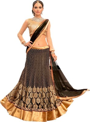 Shop Avenue Embroidered Women's Lehenga, Choli and Dupatta Set