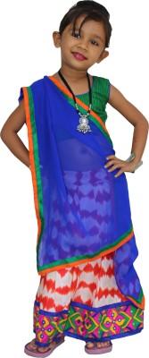 JAMBOREE Embroidered Girl's Ghagra, Choli, Dupatta Set