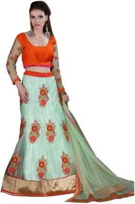 Rue Boutique Embroidered Women's Ghagra, Choli, Dupatta Set