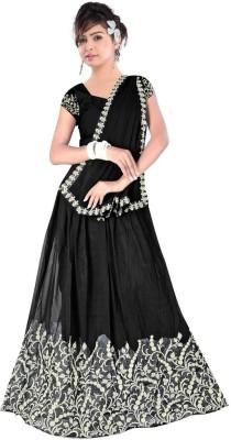 Dancing Girl Embroidered Women,s Lehenga, Choli and Dupatta Set
