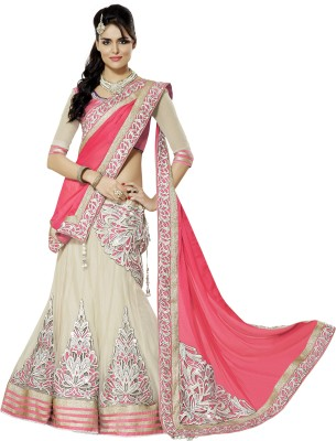 Surat Fab Tex Self Design Women's Lehenga, Choli and Dupatta Set
