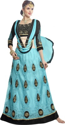 Prachi Silk Mills Embroidered, Embellished Women's Lehenga, Choli and Dupatta Set