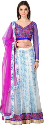 Admyrin Embroidered Women's Lehenga, Choli and Dupatta Set