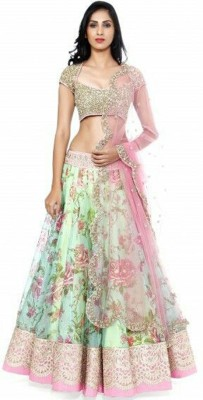 vivan fashion Self Design Women's Lehenga, Choli and Dupatta Set