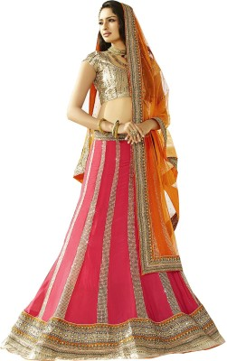 Rajhans Fashion Woven, Embellished Women's Lehenga, Choli and Dupatta Set