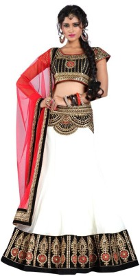 BollyLounge Embroidered Women's Lehenga, Choli and Dupatta Set