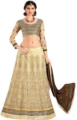 King Sales Embroidered Women's Lehenga, Choli and Dupatta Set