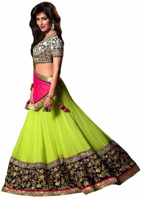 Shreet Fashion Georgette Embroidered Semi-stitched Lehenga Choli Material