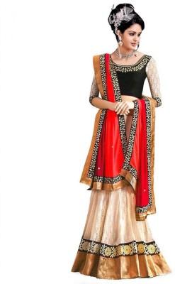 SHOPPERS SHOP Embroidered Women's Lehenga, Choli and Dupatta Set