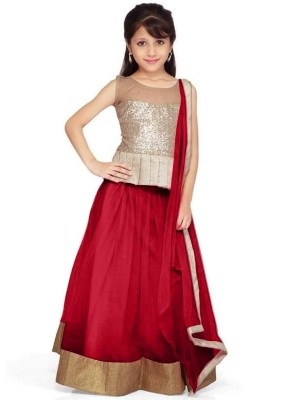 Unique Fashion Self Design Women's Lehenga, Choli and Dupatta Set