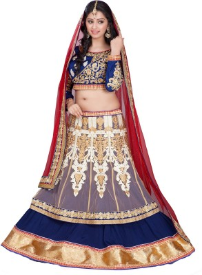 Aditya Creation Embroidered Women's Lehenga, Choli and Dupatta Set(Stitched) at flipkart