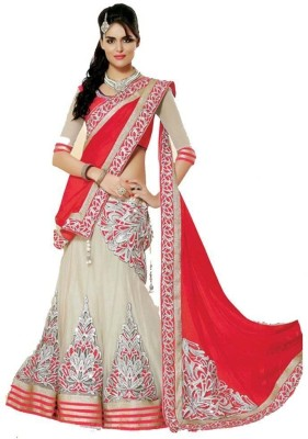 Maxusfashion Embriodered Bollywood Georgette Sari