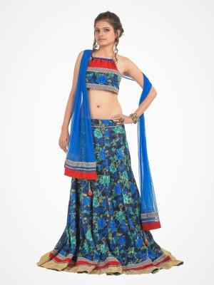 RoopRahasya Self Design, Floral Print Women's Lehenga, Choli and Dupatta Set
