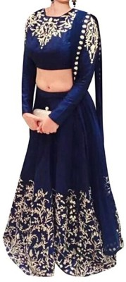 Nyalkaran Self Design Women's Lehenga Choli(Stitched) at flipkart