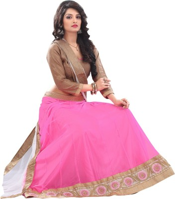 Increadibleindianwear Self Design Women's Lehenga, Choli and Dupatta Set