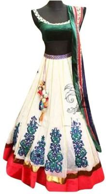 Suitevilla Embroidered Women's Lehenga, Choli and Dupatta Set(Stitched) at flipkart