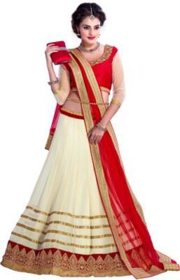 Kamani Garment Embroidered Women's Lehenga, Choli and Dupatta Set