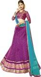 Kanheyas Net Embroidered Semi-stitched L...