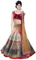 Krazzylook Chaniya, Ghagra Cholis - krazzylook Embroidered Women's Lehenga, Choli and Dupatta Set(Stitched)