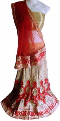 Shubh Avasar Self Design Women's Lehenga, Choli and Dupatta Set