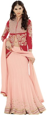 Desi Look Self Design Women,s Lehenga, Choli and Dupatta Set