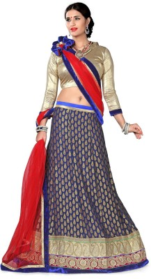 Aasvaa Embroidered Womens Lehenga, Choli and Dupatta Set