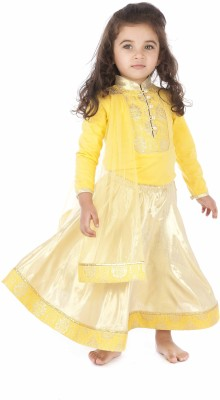 Kidology Embellished Baby Girl,s Lehenga, Choli and Dupatta Set