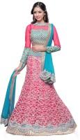 Kataria Fabrics Chaniya, Ghagra Cholis - Kataria Fabrics Embroidered Women's Lehenga, Choli and Dupatta Set(Stitched)