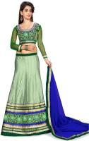 Kataria Fabrics Chaniya, Ghagra Cholis - Kataria Fabrics Self Design Women's Lehenga, Choli and Dupatta Set(Stitched)