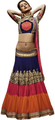 Fabefy Embroidered Women's Lehenga, Choli and Dupatta Set